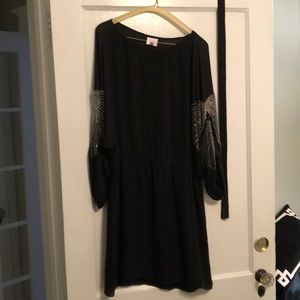 Black sequin Parker dress size extra small